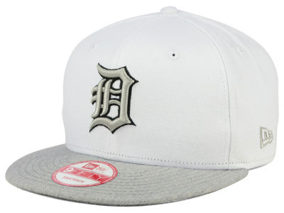 Detroit Tigers New Era MLB White Heather Gray Black 9FIFTY Snapback Cap