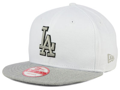 Los Angeles Dodgers New Era MLB White Heather Gray Black 9FIFTY Snapback Cap