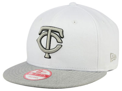 Minnesota Twins New Era MLB White Heather Gray Black 9FIFTY Snapback Cap