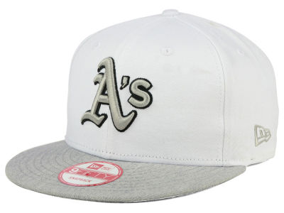 Oakland Athletics New Era MLB White Heather Gray Black 9FIFTY Snapback Cap