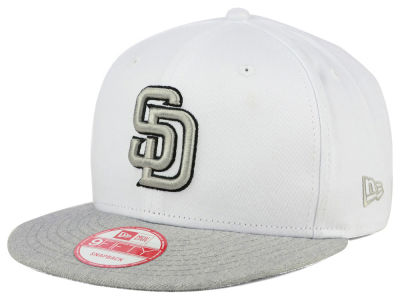 San Diego Padres New Era MLB White Heather Gray Black 9FIFTY Snapback Cap