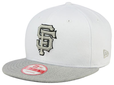 San Francisco Giants New Era MLB White Heather Gray Black 9FIFTY Snapback Cap