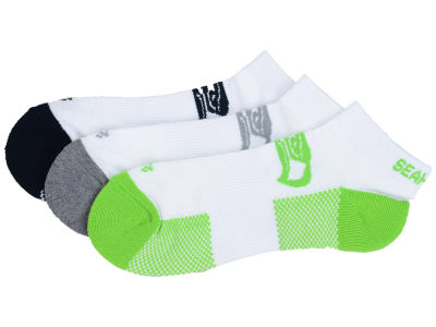Seattle Seahawks 3-pack Brink Motion Low Cut Socks