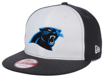 Carolina Panthers New Era NFL White Front 9FIFTY Snapback Cap