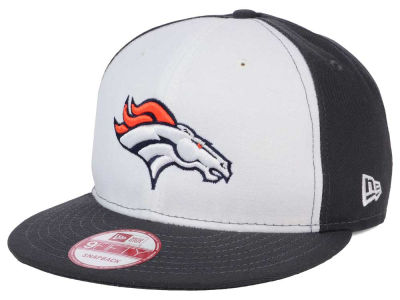 Denver Broncos New Era NFL White Front 9FIFTY Snapback Cap