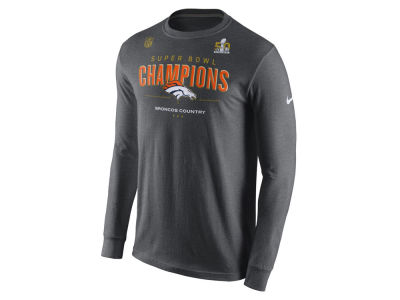 Denver Broncos Nike NFL Men's Super Bowl 50 Champ Locker Room Long Sleeve T-shirt