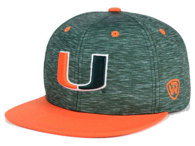 Miami Hurricanes Top of the World NCAA Energy 2Tone Snapback Cap