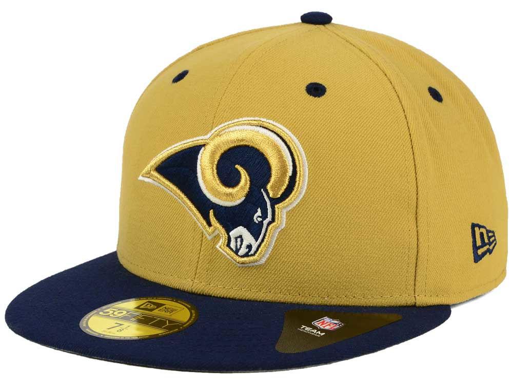 Los Angeles Rams New Era NFL Two Tone 59FIFTY Cap  05e701e4c