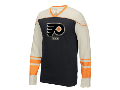 Philadelphia Flyers CCM NHL Men's Applique Crew Long Sleeve T-Shirt