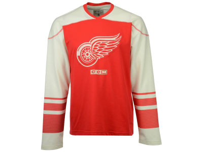 Detroit Red Wings Reebok NHL Men's Applique Crew Long Sleeve T-Shirt