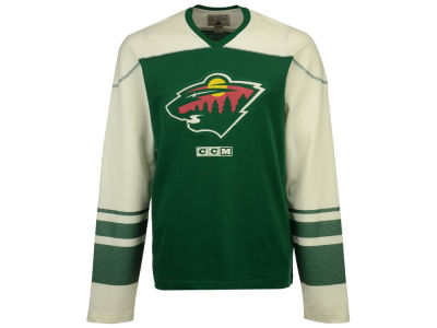 Minnesota Wild Reebok NHL Men's Applique Crew Long Sleeve T-Shirt