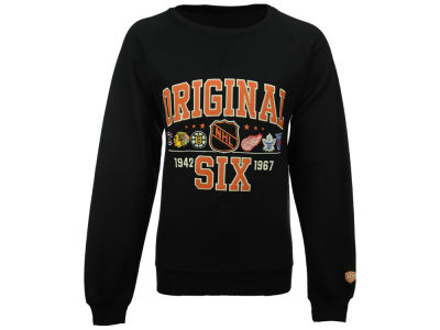 NHL Original 6 Old Time Hockey NHL Men's Daxton Raglan Crew Neck Sweatshirt