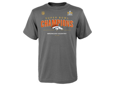 Denver Broncos Outerstuff NFL Youth Super Bowl 50 Champ Locker Room T-Shirt