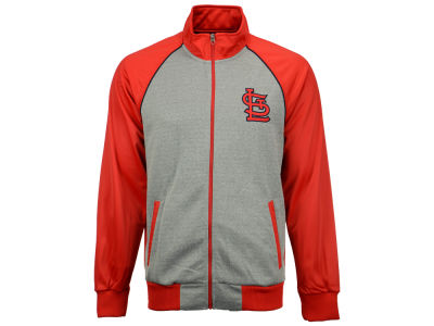 St. Louis Cardinals GIII MLB Men's Throwback Track Jacket