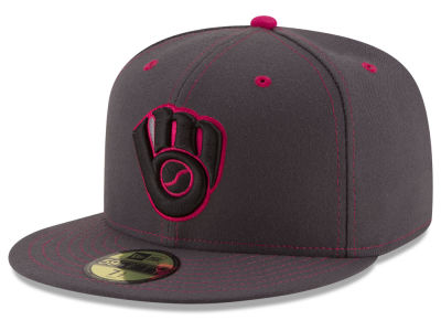 Milwaukee Brewers New Era 2016 MLB Mothers Day 59FIFTY Cap