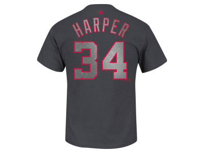 Washington Nationals Bryce Harper MLB Men's Platinum Player T-Shirt