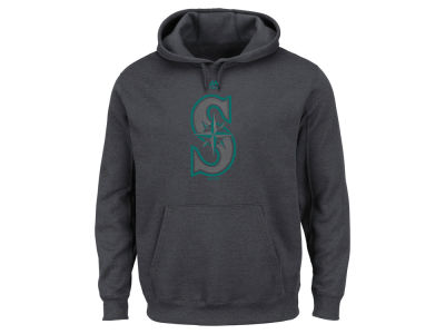 Seattle Mariners Majestic MLB Men's Platinum Pullover Hoodie