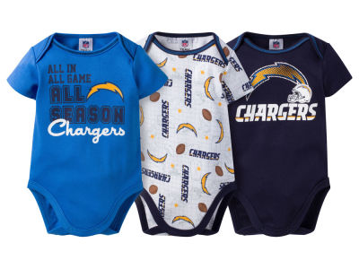 San Diego Chargers NFL Newborn 3 Piece Creeper Set