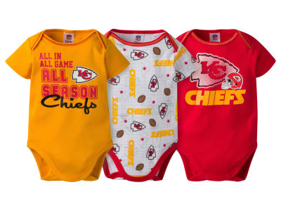 Kansas City Chiefs NFL Newborn 3 Piece Creeper Set