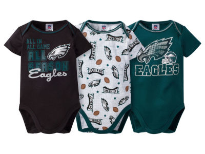 Philadelphia Eagles NFL Newborn 3 Piece Creeper Set