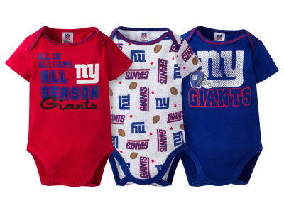 New York Giants NFL Newborn 3 Piece Creeper Set