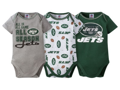 New York Jets NFL Newborn 3 Piece Creeper Set