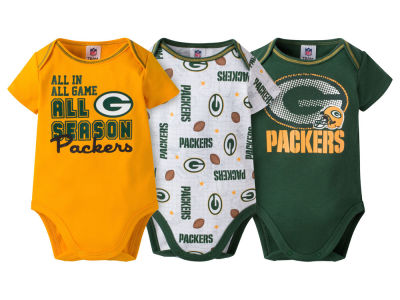 Green Bay Packers NFL Newborn 3 Piece Creeper Set