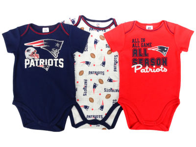 New England Patriots NFL Newborn 3 Piece Creeper Set