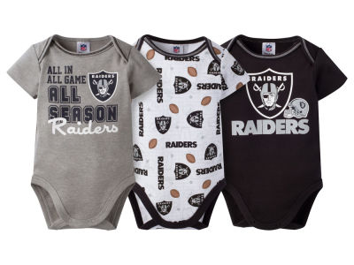 Oakland Raiders NFL Newborn 3 Piece Creeper Set