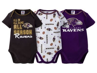 Baltimore Ravens NFL Newborn 3 Piece Creeper Set