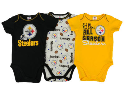 Pittsburgh Steelers NFL Newborn 3 Piece Creeper Set