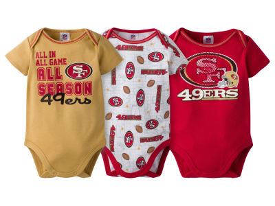 San Francisco 49ers NFL Infant 3 Piece Creeper Set