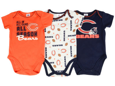 Chicago Bears NFL Infant 3 Piece Creeper Set