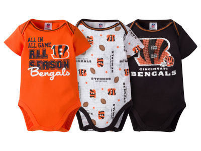 Cincinnati Bengals NFL Infant 3 Piece Creeper Set