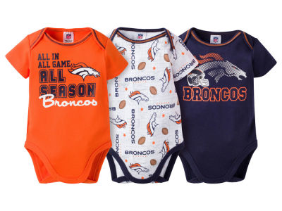 Denver Broncos NFL Infant 3 Piece Creeper Set