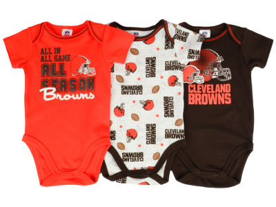 Cleveland Browns NFL Infant 3 Piece Creeper Set