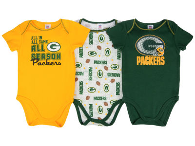Green Bay Packers NFL Infant 3 Piece Creeper Set