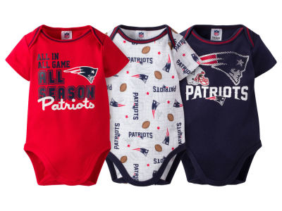 New England Patriots NFL Infant 3 Piece Creeper Set