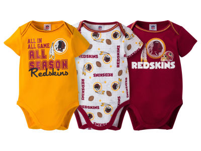 Washington Redskins NFL Infant 3 Piece Creeper Set