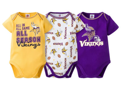 Minnesota Vikings NFL Infant 3 Piece Creeper Set