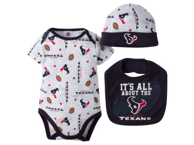 Houston Texans NFL Newborn 3 Pc Set Bib and Cap Set