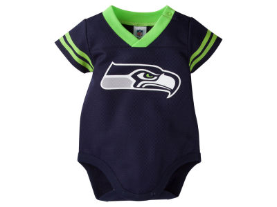 Seattle Seahawks NFL Newborn Dazzle Mesh Creeper