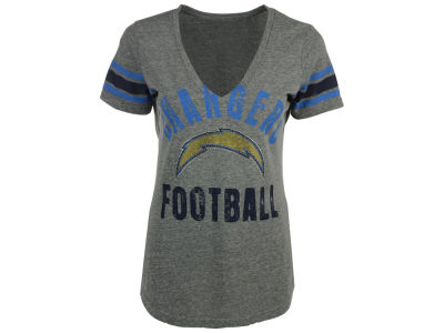 Los Angeles Chargers GIII NFL Women's Any Sunday Rhinestone T-Shirt