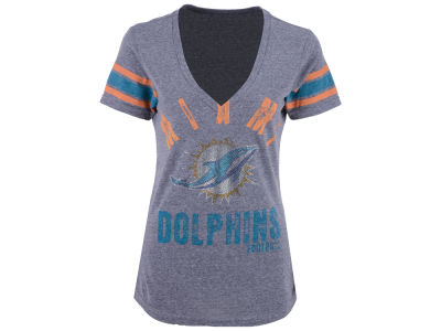 Miami Dolphins GIII NFL Women's Any Sunday Rhinestone T-Shirt