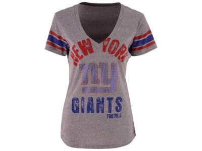 New York Giants GIII NFL Women's Any Sunday Rhinestone T-Shirt