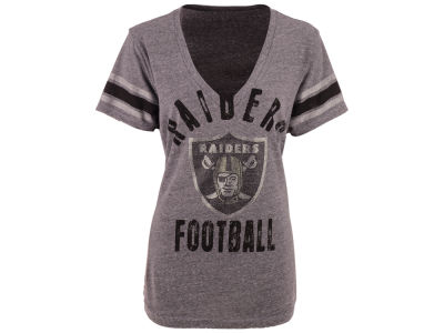 Oakland Raiders GIII NFL Women's Any Sunday Rhinestone T-Shirt
