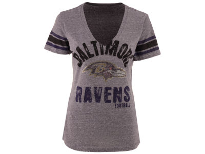 Baltimore Ravens GIII NFL Women's Any Sunday Rhinestone T-Shirt