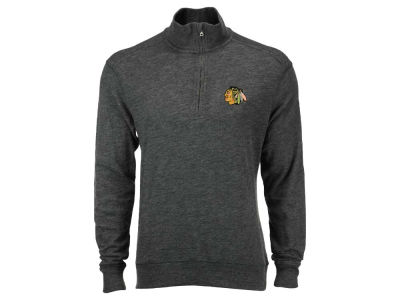Chicago Blackhawks NHL Men's Hudson Shear Text Quarter Zip Pullover