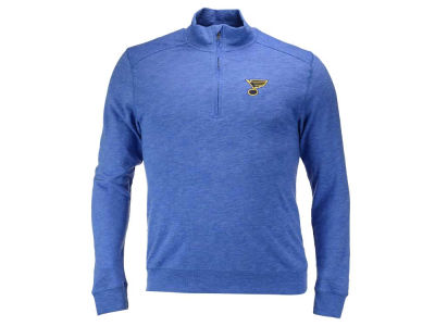 St. Louis Blues NHL Men's Hudson Shear Text Quarter Zip Pullover