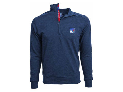 New York Rangers NHL Men's Hudson Shear Text Quarter Zip Pullover